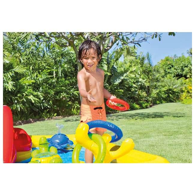 57454EP + 57453EP Intex Inflatable Ocean Kiddie Pool (2 Pack) & Intex Rainbow Ring Pool (2 Pack) 2