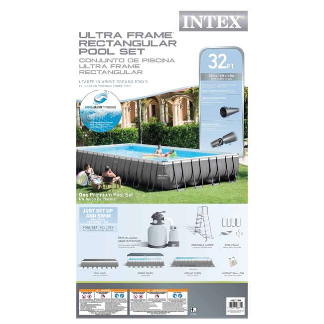 26371EH + 2 x 58821EP + 4 x 58868EP Intex 32' Rectangular Swimming Pool, Beverage Float (2 Pack), & Float (4 Pack) 5