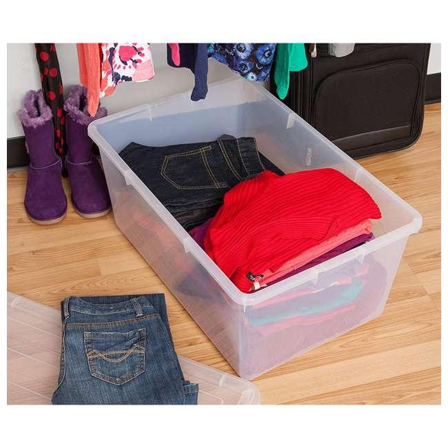 5 x 585380 IRIS USA 585380 68 Qt. Buckle Down Modular Storage Box Container, Clear (5 Pack) 3