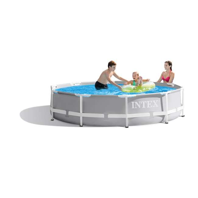 26700EH + 28637EG Intex Above Ground Outdoor Swimming Pool w/ Cartridge Filter Pump System 1