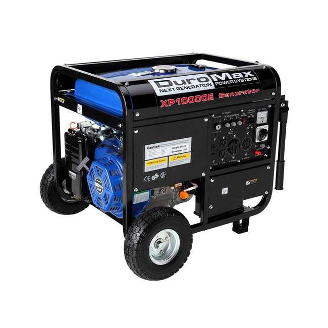 XP10000E + XPLGC DuroMax 10000 Watt Portable Gas Generator & Generator Cover, Black 1