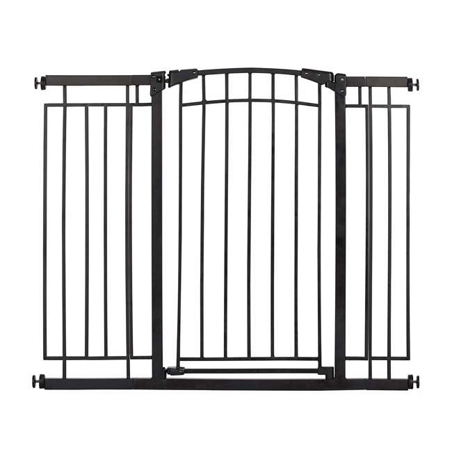 4471110 36-Inch Adjustable Baby & Pet Safety Gate, Black