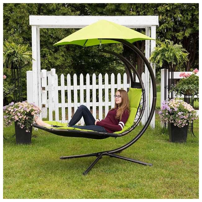 DREAM-GA Vivere The Original Dream Lounger Steel Backyard Patio Deck Chair, Green Apple 3