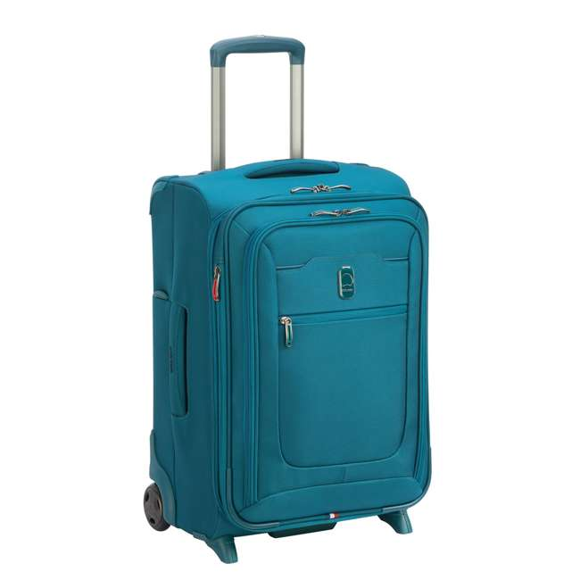 """40229172032 DELSEY Paris 2 Wheel Spinner Upright 20"""" Hyperglide Carry On Travel Case, Teal 1"""
