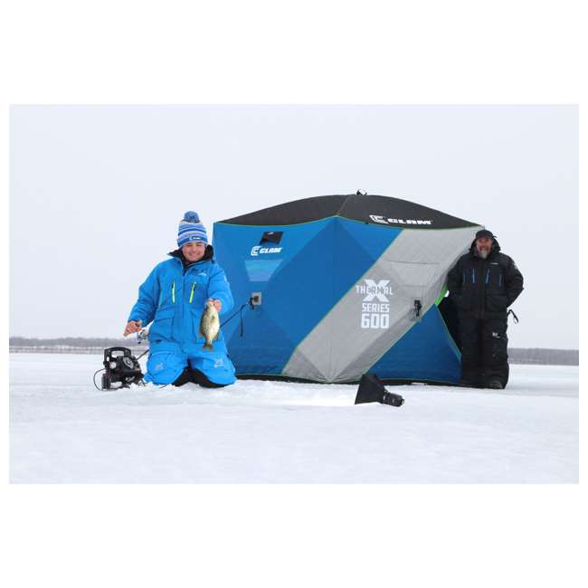 CLAM-14511 Clam 14511 Removable Floor with for X-600 Series 6 Sided Hub Ice Fishing Tents 1