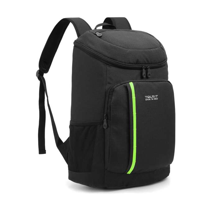 TR0260008B001 TOURIT Cygnini TR0260008B001 Insulated Leak-proof 21 Can Cooler Backpack, Black 2
