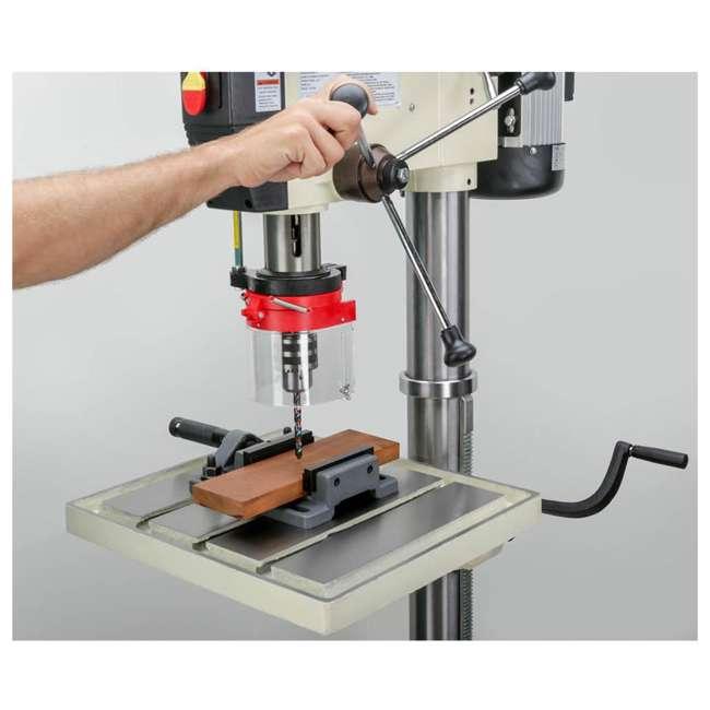 M1039 Shop Fox M1039 20 Inch 1.5 Horsepower Floor Drill Press with Work Light, White 1