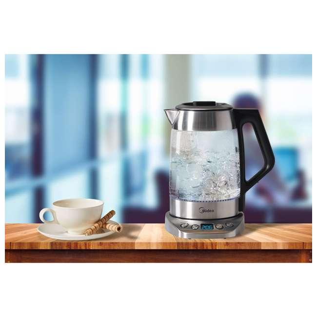 MEK17GT-E8-U-A Midea 1.7-Liter Variable Temperature Electric Tea Kettle, Silver (Open Box) 2