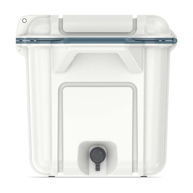77-54868 Otterbox Venture Heavy Duty Outdoor Camping Fishing Cooler 65-Quarts, White/Blue 7