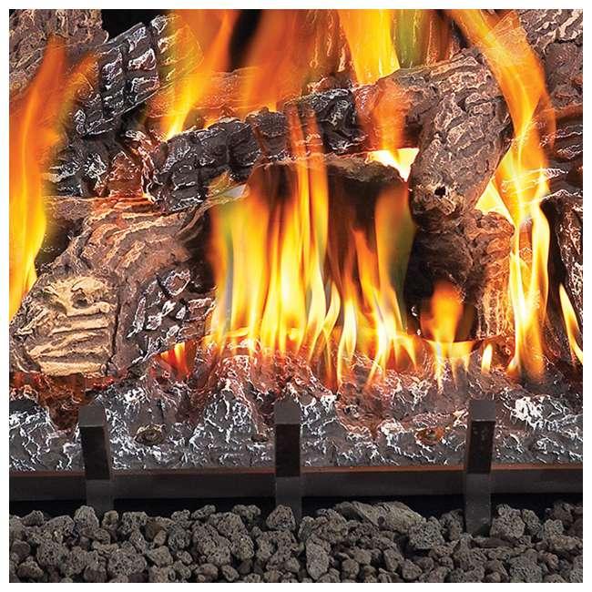 GL18NE-U-C Fiberglow 18 Inch Log Burner Set Insert for Natural Gas Fireplaces (For Parts) 2