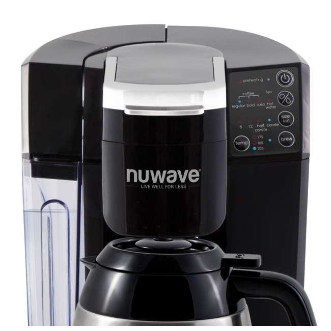 NW-45011 [Copy 1] NuWave BruHub Single Serve/Full Pot Smart Coffee Maker Brewer Machine System  1