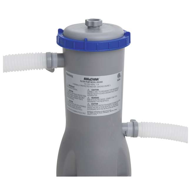 12752-BW + 58388E-BW Bestway 15 x 4 Ft Above Ground Pool w/Cartridge Filter Pump 7