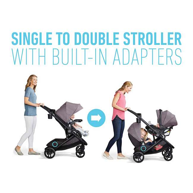 2080526 Graco Modes2Grow Baby Stroller & SnugRide Infant Car Seat Travel System, Kinley 4