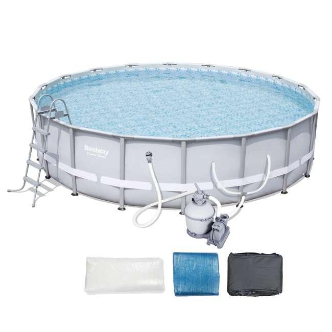 Bestway Steel Pro 18 Foot X 48 Inch Frame Pool Set 56398e Bw