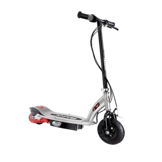 13125E-BK + 97778 + 96785 Razor E125 Motorized 24-Volt Scooter, Black + Youth Helmet + Elbow & Knee Pads 1