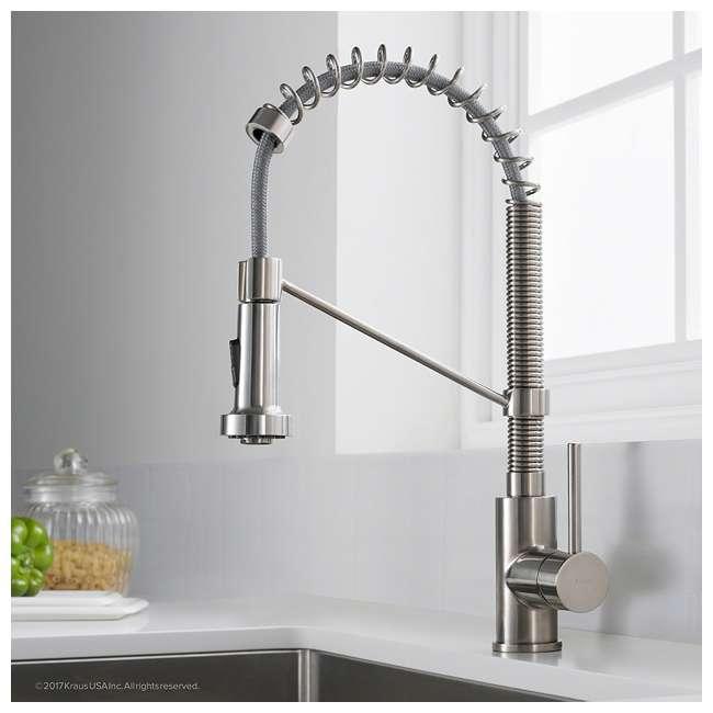 "KPF-1610SS-U-A Kraus Bolden 18"" Kitchen Faucet w/ Pull Down Sprayhead (Open Box) (2 Pack) 2"