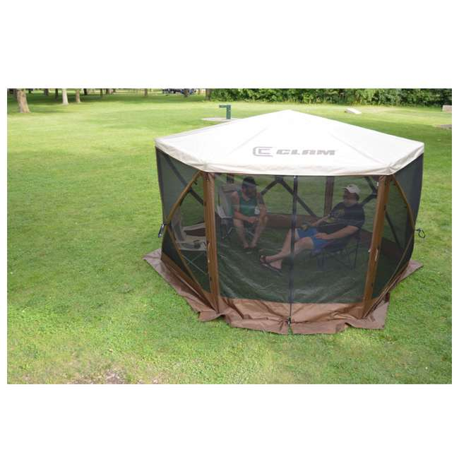 CLAM-ESSS-12873 Clam Quick-Set Escape Sky Portable Outdoor Gazebo Canopy 2