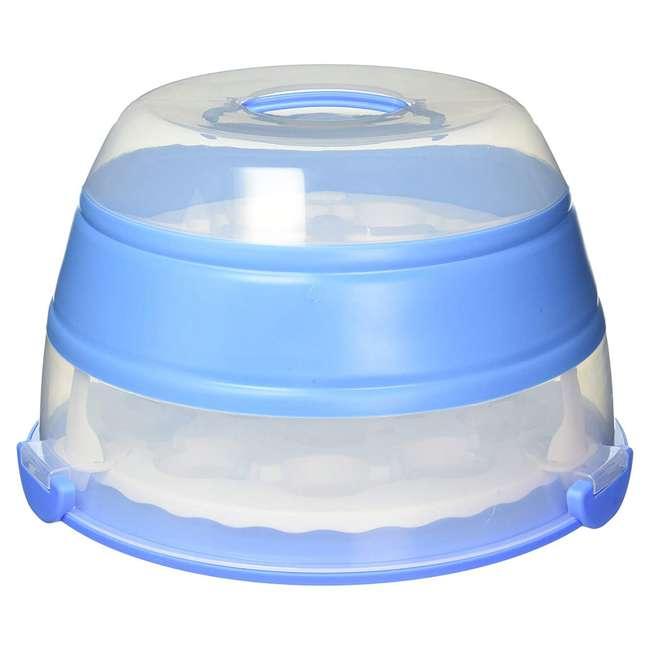 BCC-6 Progressive International Prepworks Collapsible Cupcake Carrier, Blue