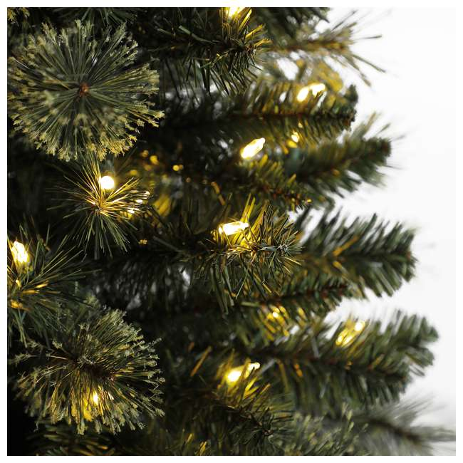 TV50M3AVBL00 Home Heritage Cashmere 5 Foot Artificial Corner Christmas Tree with LED Lights 1