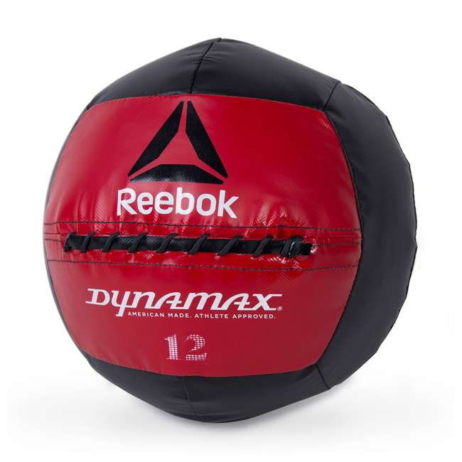 HHKC5-RE012BK Reebok Soft-Shell Medicine Ball by Dynamax 12lb