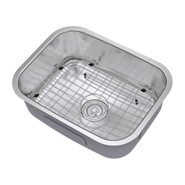 KBU12 Kraus 23-Inch Rounded Undermount Stainless Steel Kitchen Sink (2 Pack) 3