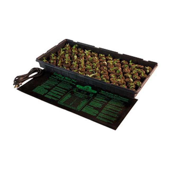 "10 x 19006 Hydroponic 17W Jump Start 8.87"" x 19.5"" Seedling Heat Mat (10 Pack) 6"
