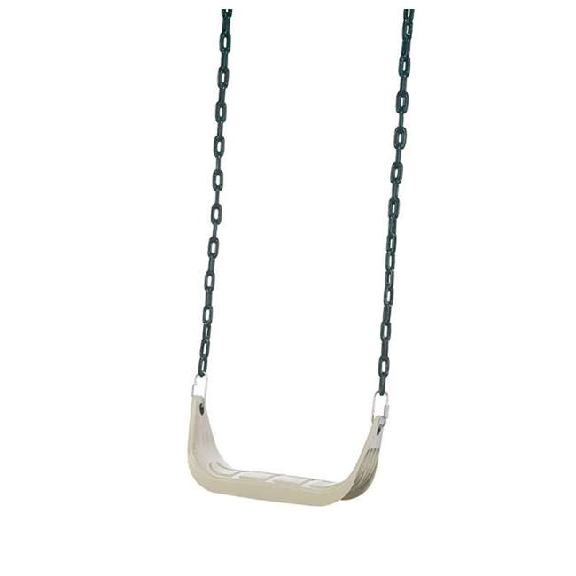 PS 7946 PlayStar PS7946 Children's Rigid Plastic Swing Seat with Covered Chains, Beige