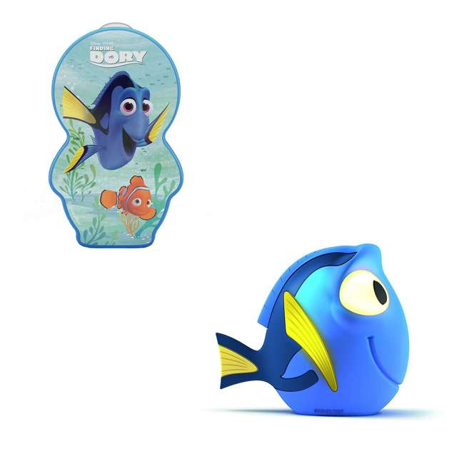 PLC-7176736U0 + PLC-7176890U0 Philips Kids Disney Pixar Finding Dory Flashlight and Soft Pal Nightlight Friend