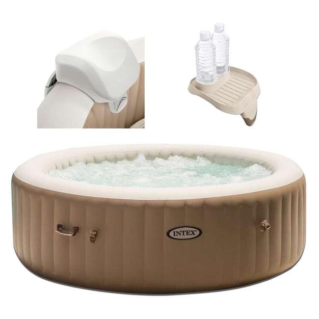 28505E + 28407E + 28500E Intex 28407E Pure Spa 4 Person Inflatable Hot Tub With Headrest And Cup Holder 5