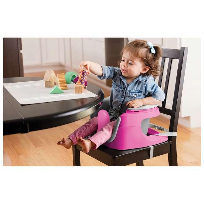 13595 Summer Infant Deluxe 4 In 1 Baby Floor Booster SuperSeat Activity Chair, Pink 4