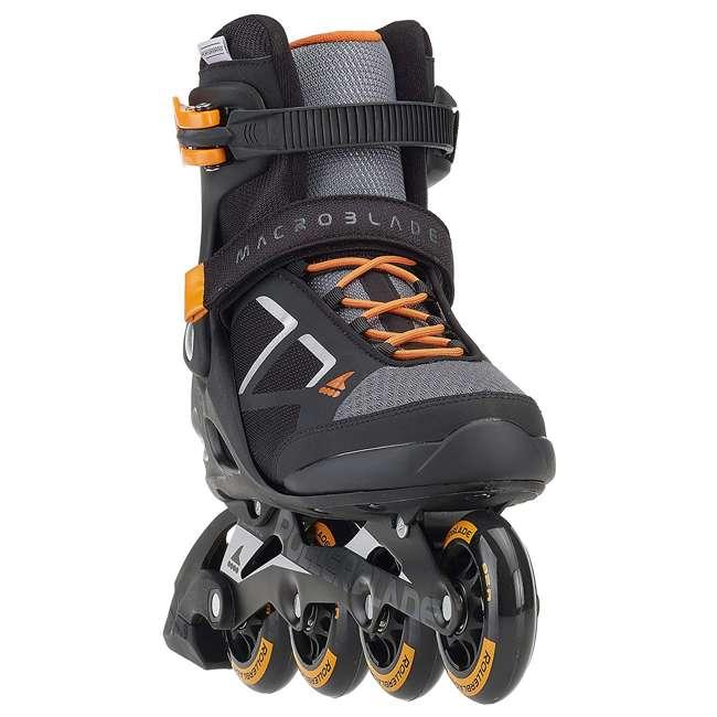 07847100956-8 Rollerblade Macroblade 80 Mens Adult Performance Inline Skates, Orange and Black 1