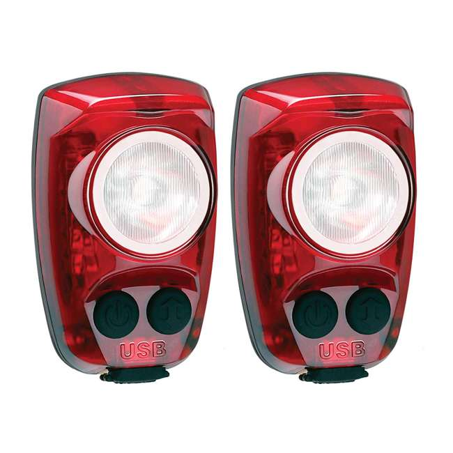 HS-150-USB Cygolite Hotshot Pro 150 Lumen USB Flashing LED Rear Bike Light, Red (2 Pack)