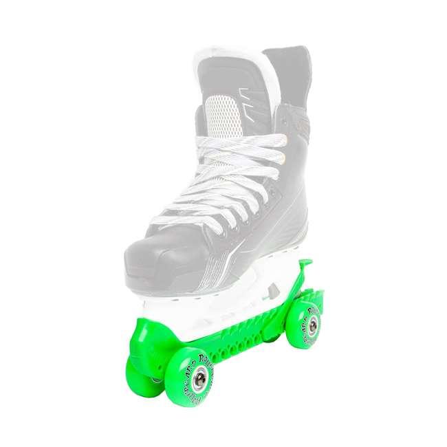 44374-G Rollergard 44374-G Adjustable Kids Ice Skate Guard & Roller Skate, Green (Pair) 1