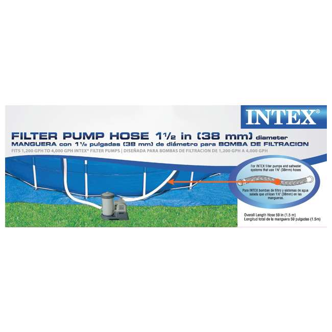 "4 x 29060E-U-A Intex 1.5"" Diameter Accessory Pool Pump Replacement Hose - 59""(Open Box)(4 Pack) 3"