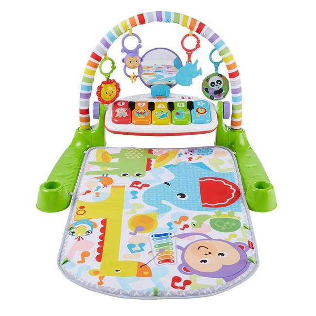 FVY57 Fisher Price Deluxe Kick & Play Piano Play Mat with Toys & Piano Keys 1