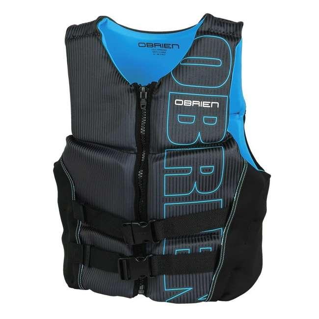 4 x 2171797-MW OBrien BioLite Men's Flex V Back Neoprene Life Vest Size XL, Black/Blue (4 Pack) 1