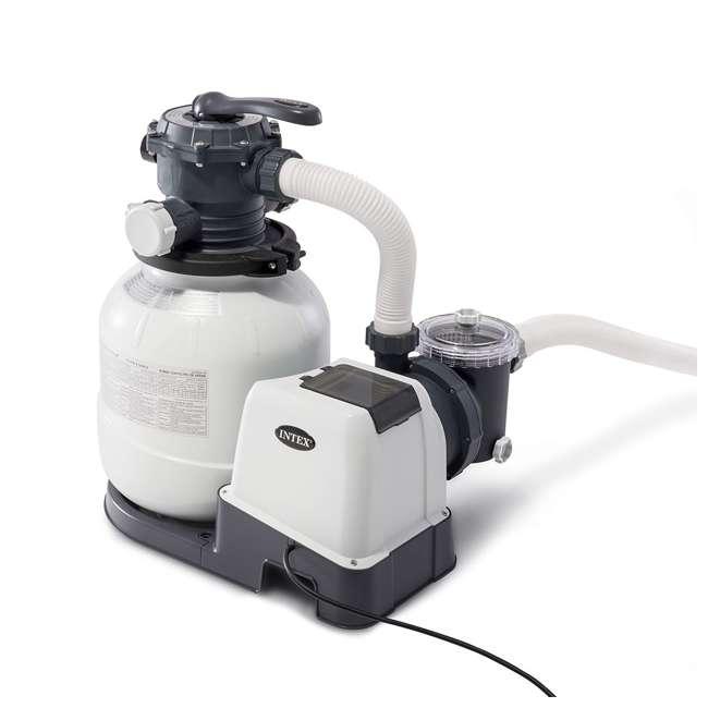 26645EG + 26669EG Intex Pool Sand Filter Pump w/Krystal Clear Saltwater System 1