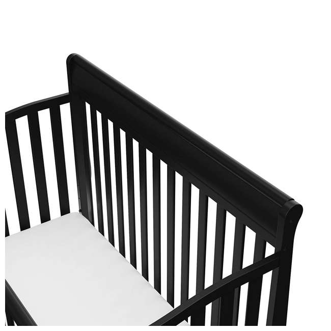 04530-66B + 06711-300 Graco Stanton 4-in-1 Convertible Crib in Black w/ Foam Mattress 3