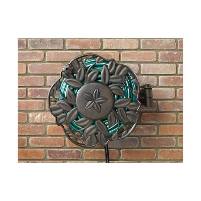 AMES-2397200 Ames Neverleak Decorative Leaf Wall Mount Hose Reel With 100-Foot Hose Capacity 1