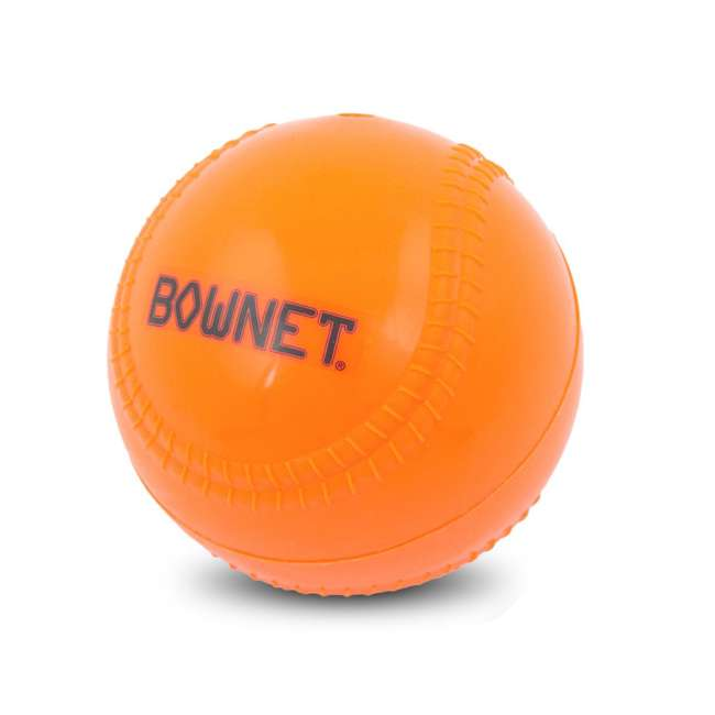 BN-BALLAST BB Bownet 14-Ounce Weighted Pitching Baseball, Orange
