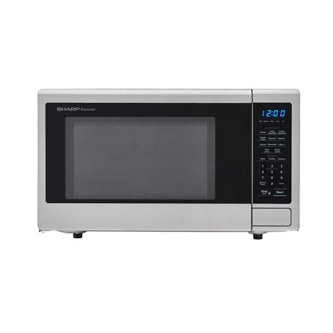 SMC1132CS-RB Sharp Carousel 1.1 Cu Ft Stainless Steel Microwave Oven (Certified Refurbished)