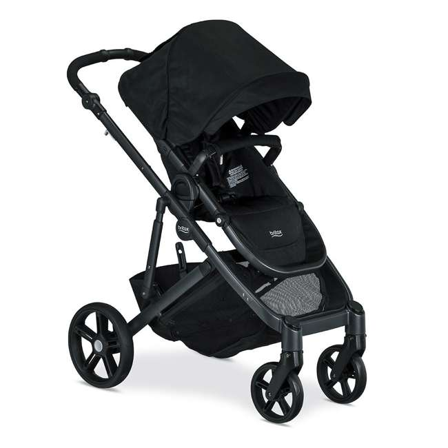 U911905 Britax U911905 B Ready G3 Folding Reclining Travel Canopy Baby Stroller, Black