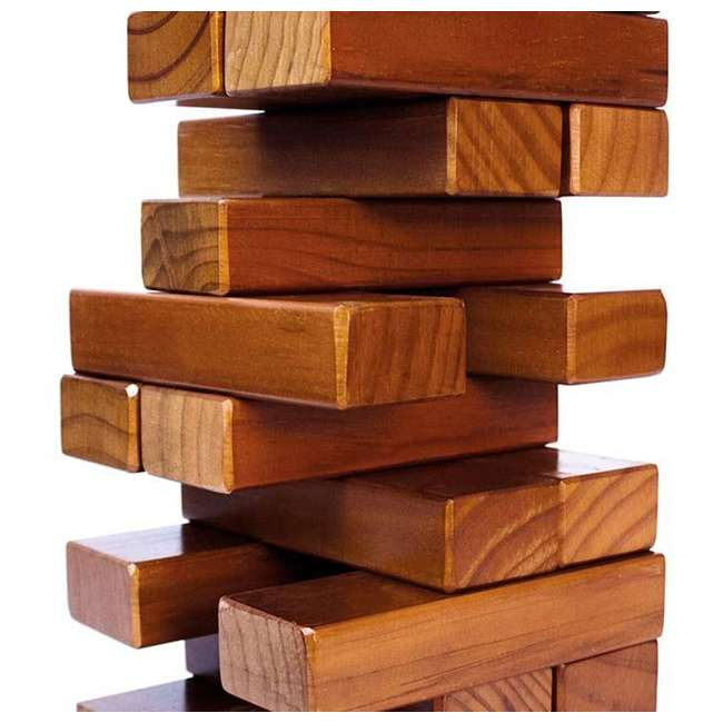 TIMBERS-002 YardGames Giant Tumbling Timbers Wood Stacking Game with 56 Stained Pine Blocks 1