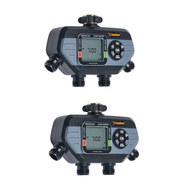 MEL-73280 Melnor 73280 HydroLogic 4 Zone Digital Water Timer (2 Pack)