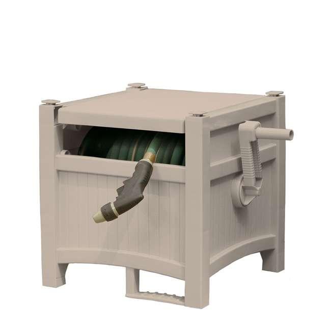 PHH100D Suncast 100-Foot Hideaway Hose Reel, Taupe (Open Box)