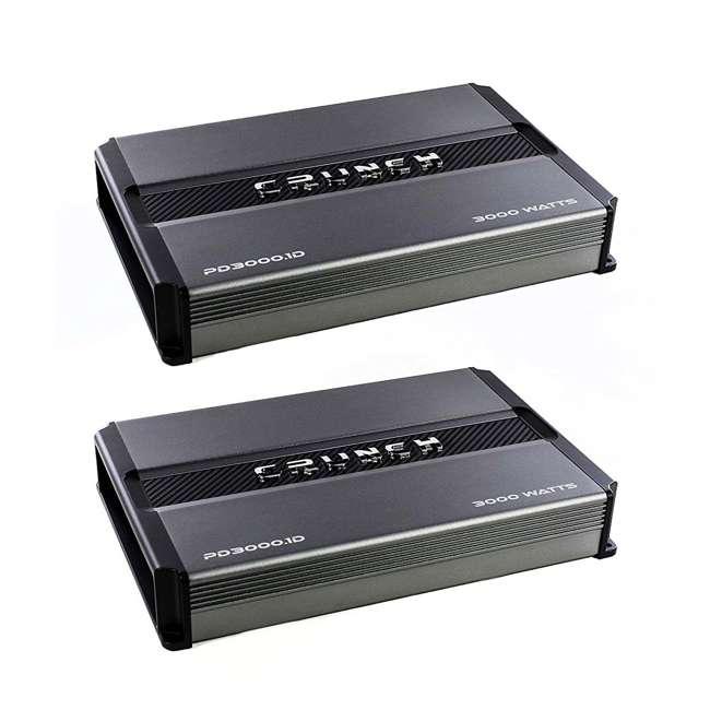 PD3000.1 Crunch Power Drive PD3000.1 3000W Monoblock Class D Amplifier (2 Pack)