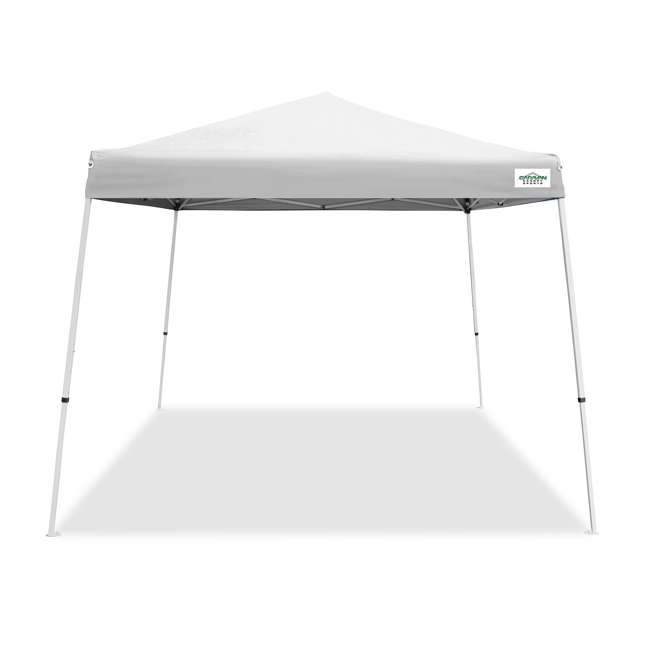 CVAN21007800010 Caravan Canopy V-Series 2 10' x 10' Angled Leg Canopy, White (2 Pack) 1
