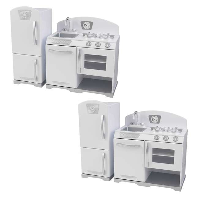 KidKraft 2-Piece Retro Kitchen Set, White (2 Pack)