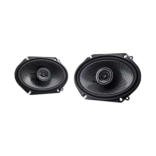 KFC-C6896P Kenwood KFC-C6896P 6x8 Inch 360 Watt Oval Custom Fit 2 Way Car Speakers (Pair)