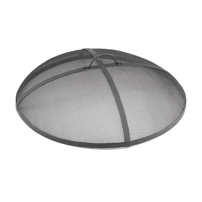 781 Good Directions 24 Inch Powder Coated Steel Small Fire Pit Spark Screen, Gray 1